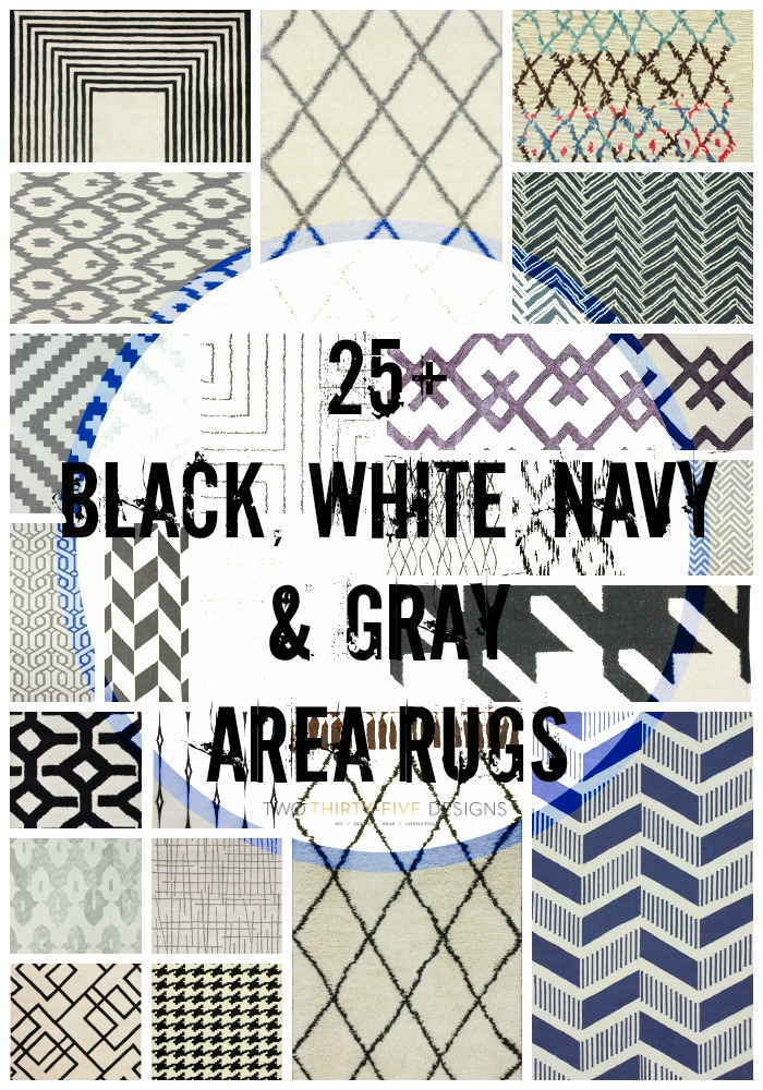 25+ Black & White Area Rugs