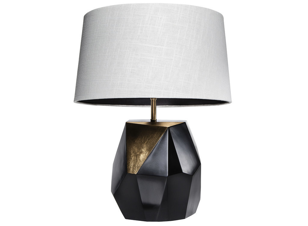 Black-gold-faceted-lamp-base--Nate Berkus Fall 2014