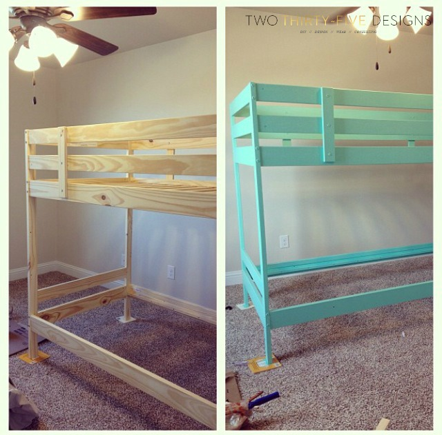 Ikea Bunk Bed Hack - Two Thirty-Five Designs