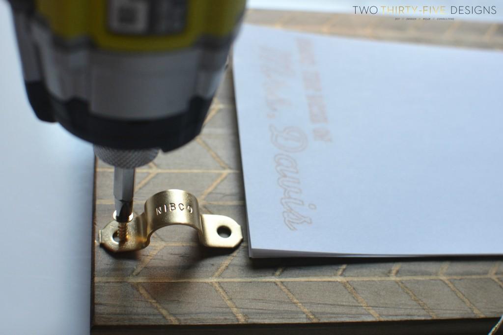 DIY Sharpie Holder on Clipboard
