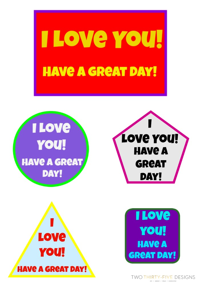 Free Lunch Box Printables
