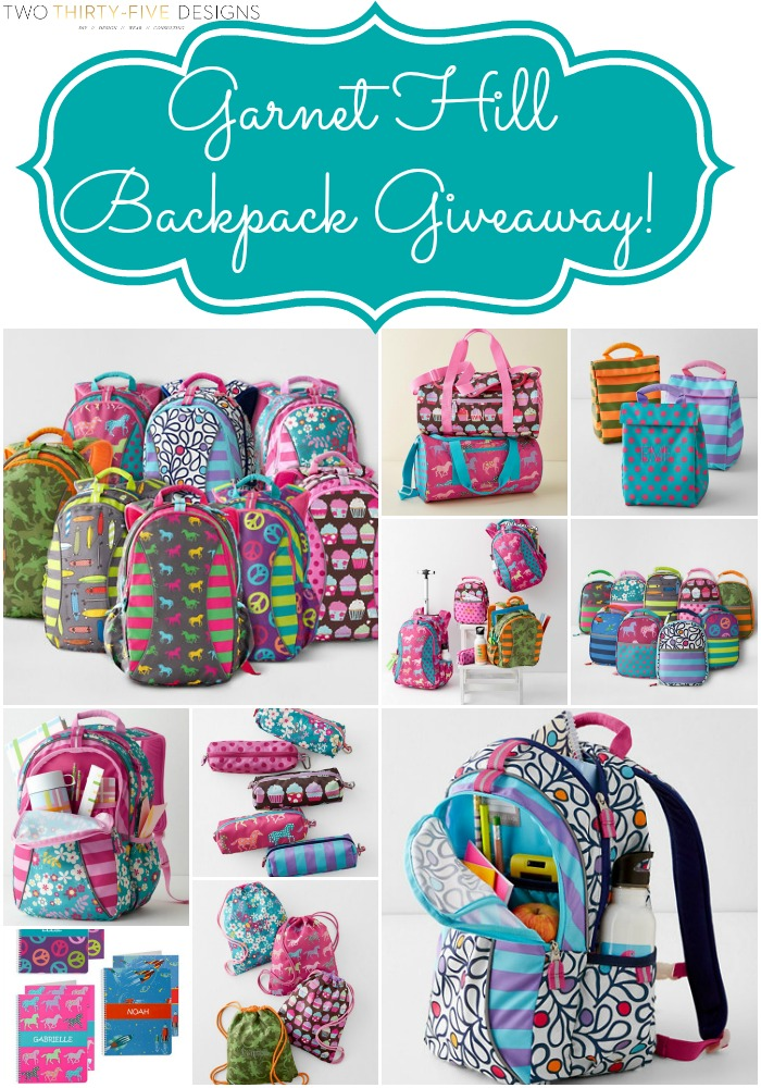 Garnet Hill Backpack Giveaway