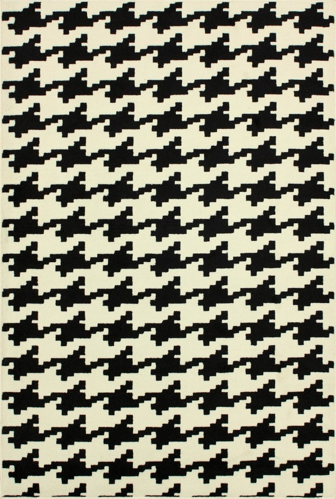 Home Value Houndstooth Black Area Rug