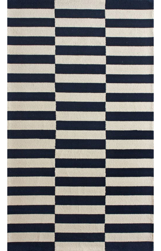 Homespun Blocks Navy Area Rug