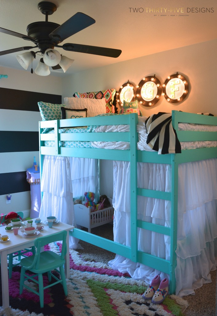 Ikea bunk bed hack two thirty five designs - Ikea bunk bed room ideas ...