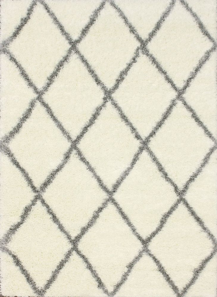 Moroccan Diamond Gray Area Rug