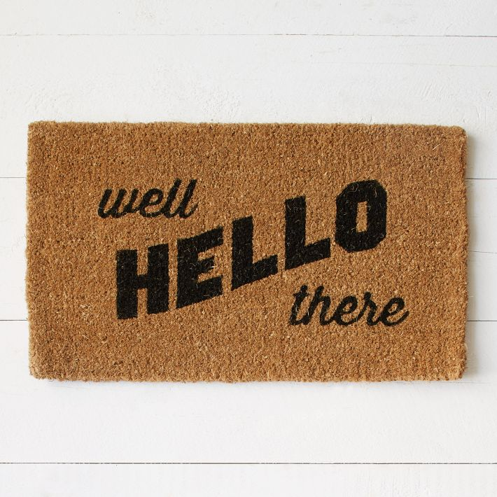 Well Hello There West Elm Doormat