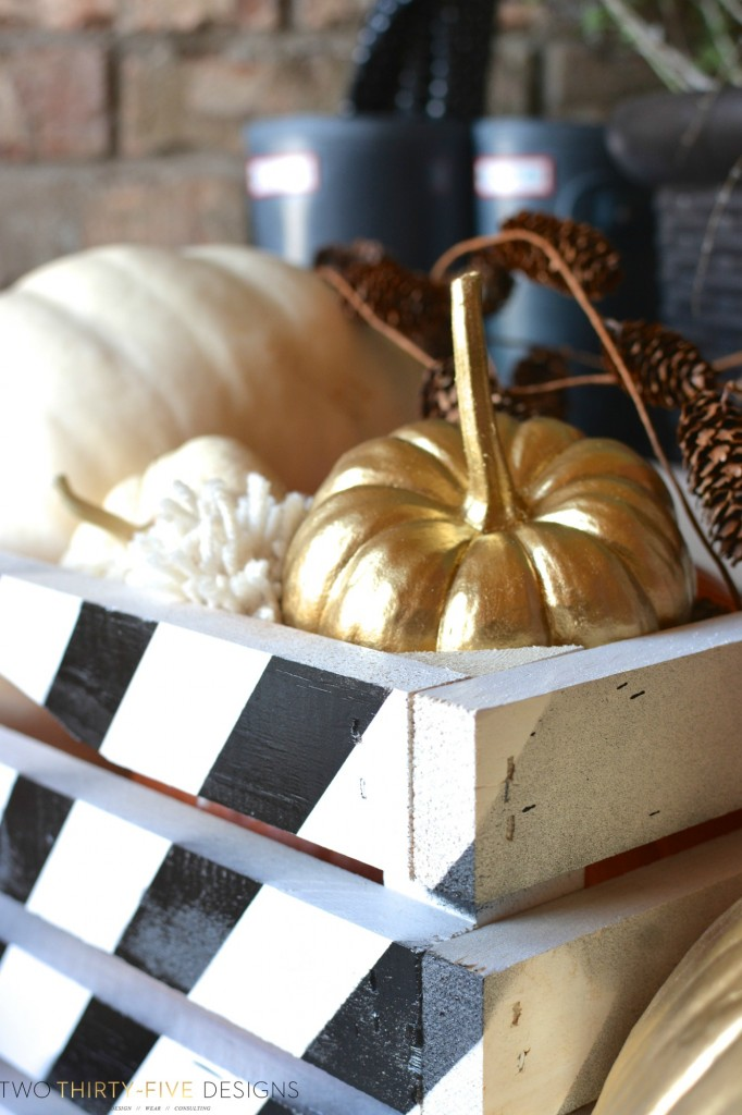 Fall home tour for Painted crate ideas