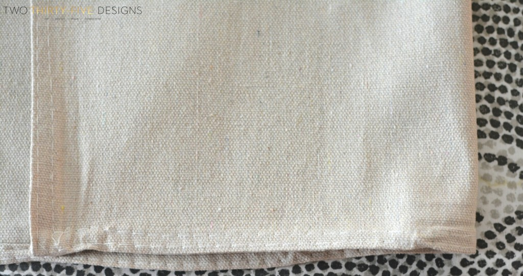 DIY No-Sew Painted Drop Cloth Curtain Panels