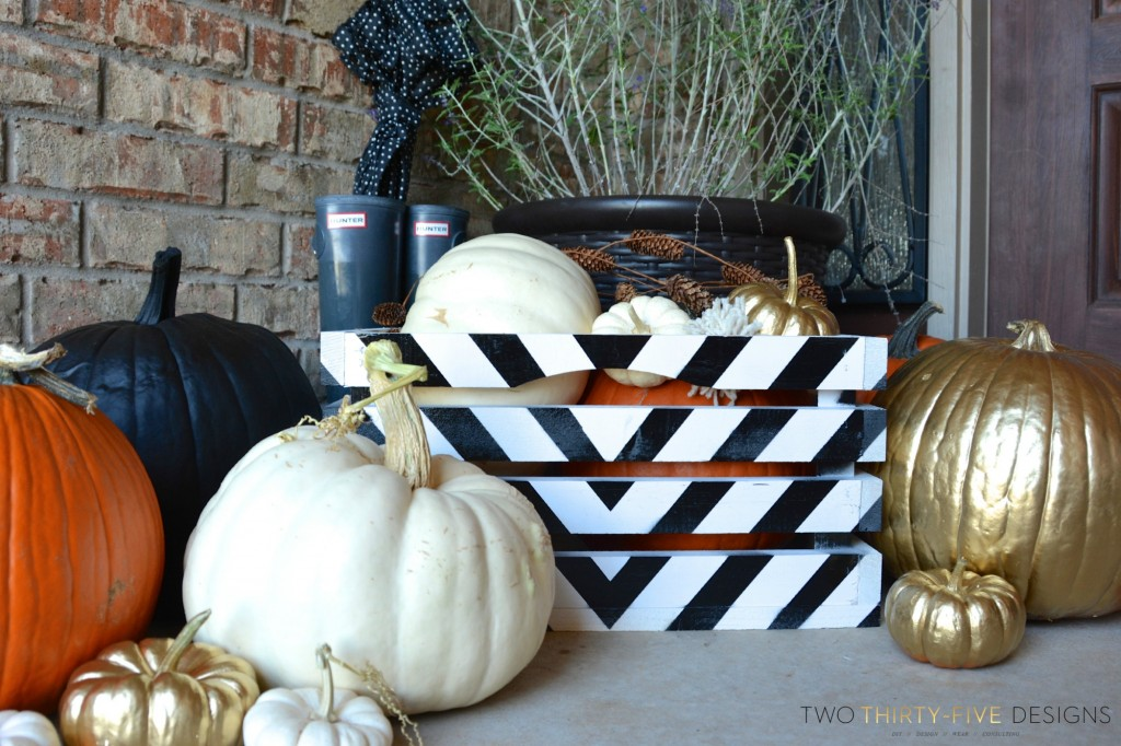 Fall Entry with Painted Crate