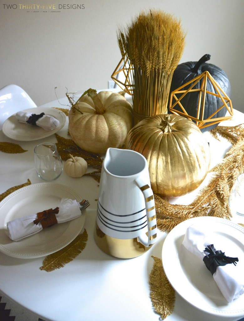 Gold Fall Table
