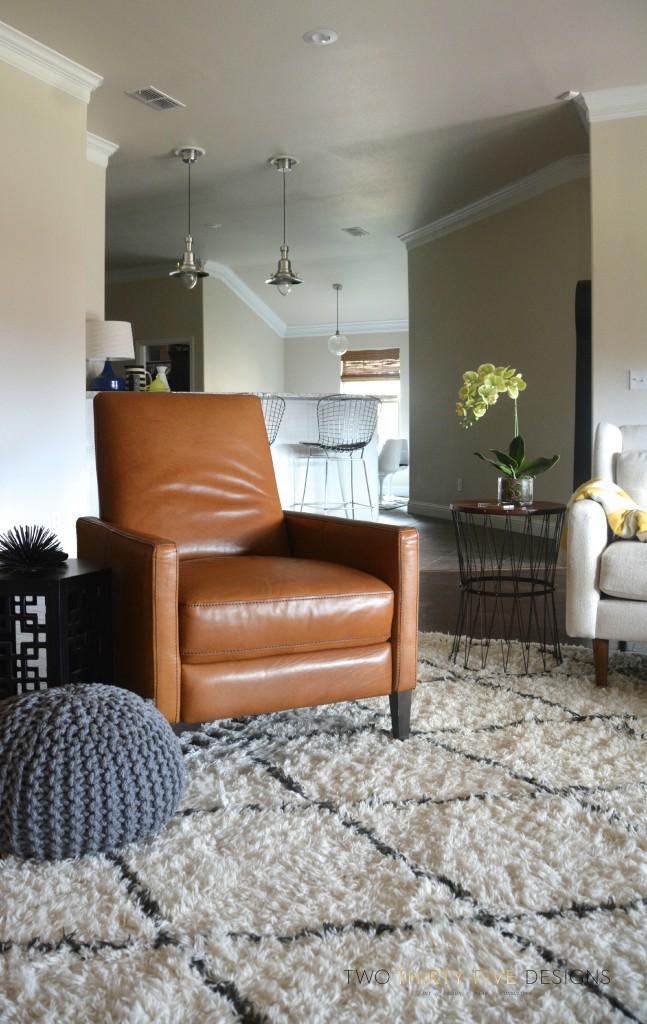 marrakesh natural shag rug - two thirty-five designs