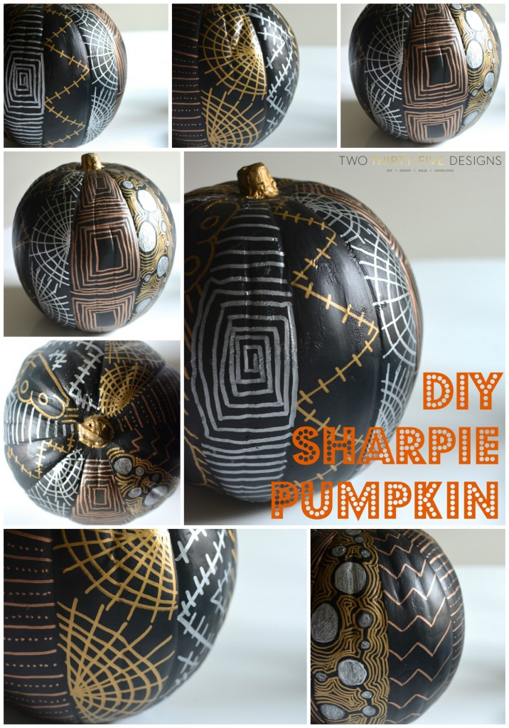 DIY Sharpie Pumpkin by Two Thirty~Five Designs