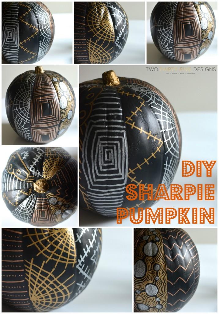 DIY Sharpie Pumpkin by Two Thirty~Five Designs