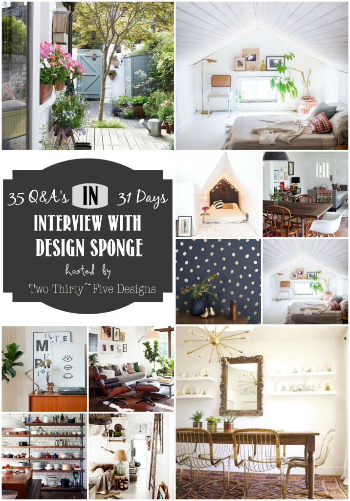 Design Sponge Interview by Two Thirty~Five Designs
