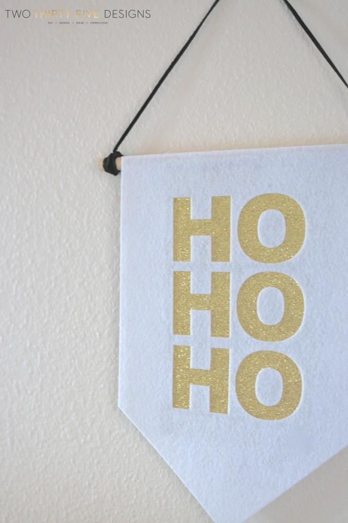 Felt Christmas Banner