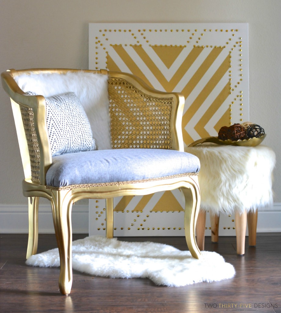 GoldCane Side Chair by Two Thirty~Five Designs