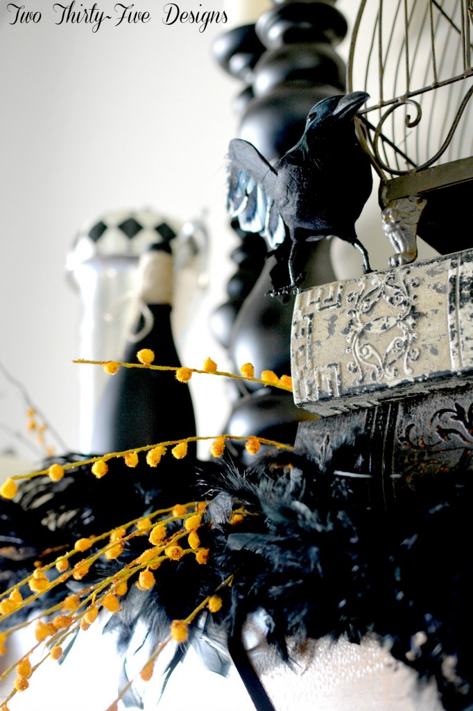 Halloween Mantel by Two Thirty~Five Designs