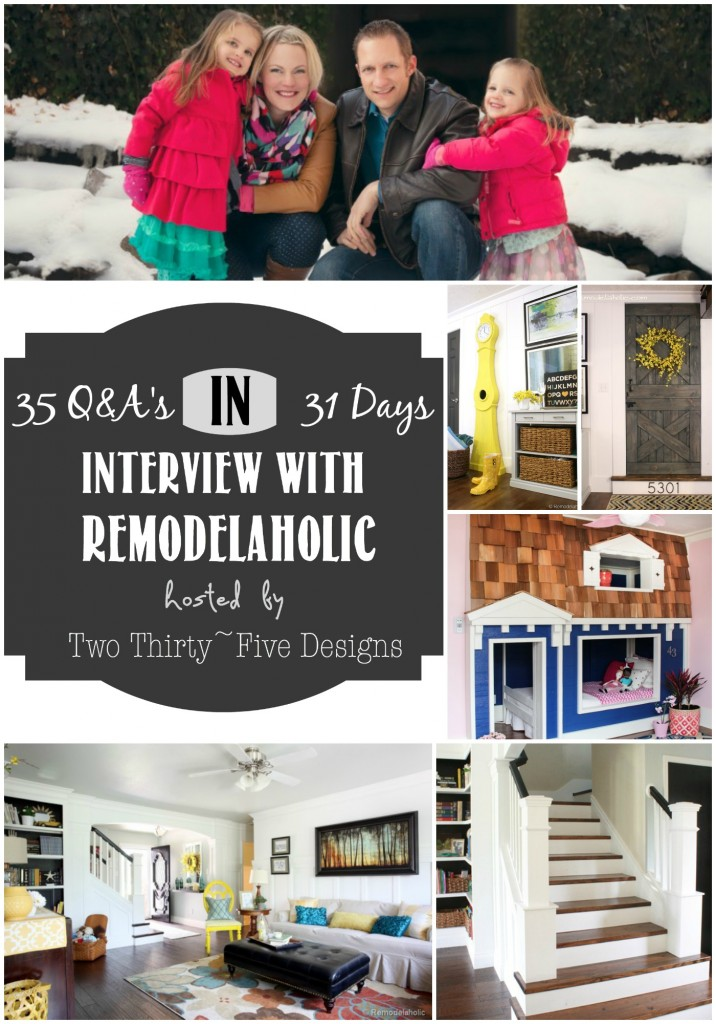 Remodelaholic interviewed by Two Thirty~Five Designs
