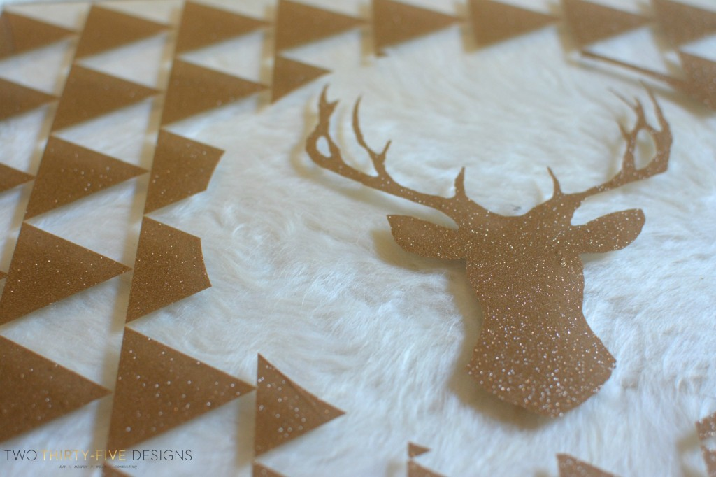 Acrylic Tray with Deer Silhouette by Two Thirty~Five Designs