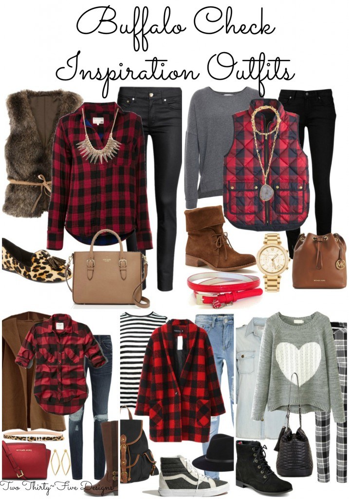 Buffalo Check Inspiration Outfits by Two Thirty~Five Designs