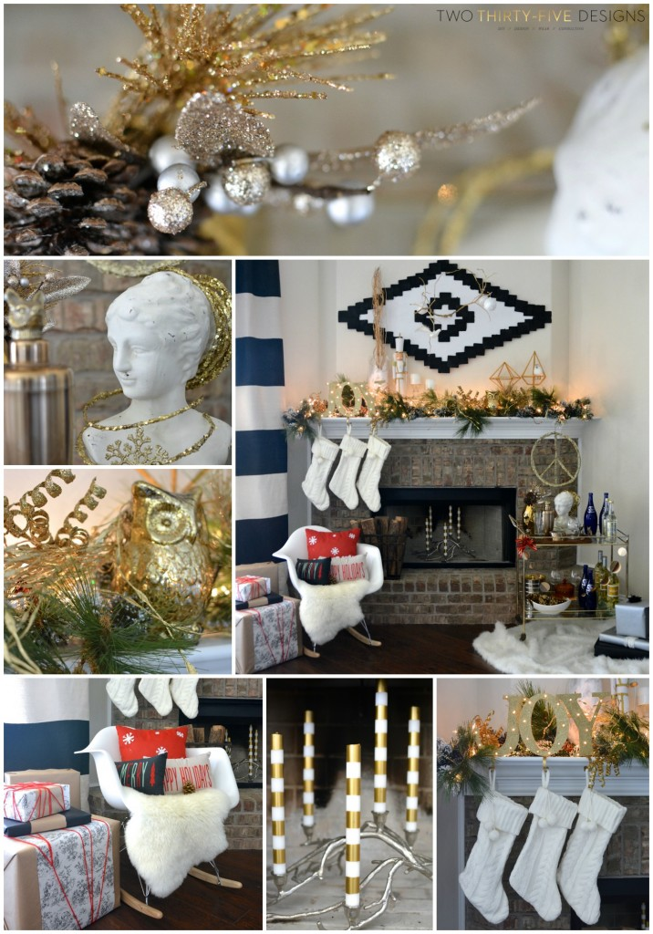Christmas Holiday Mantel by Two Thirty~Five Designs