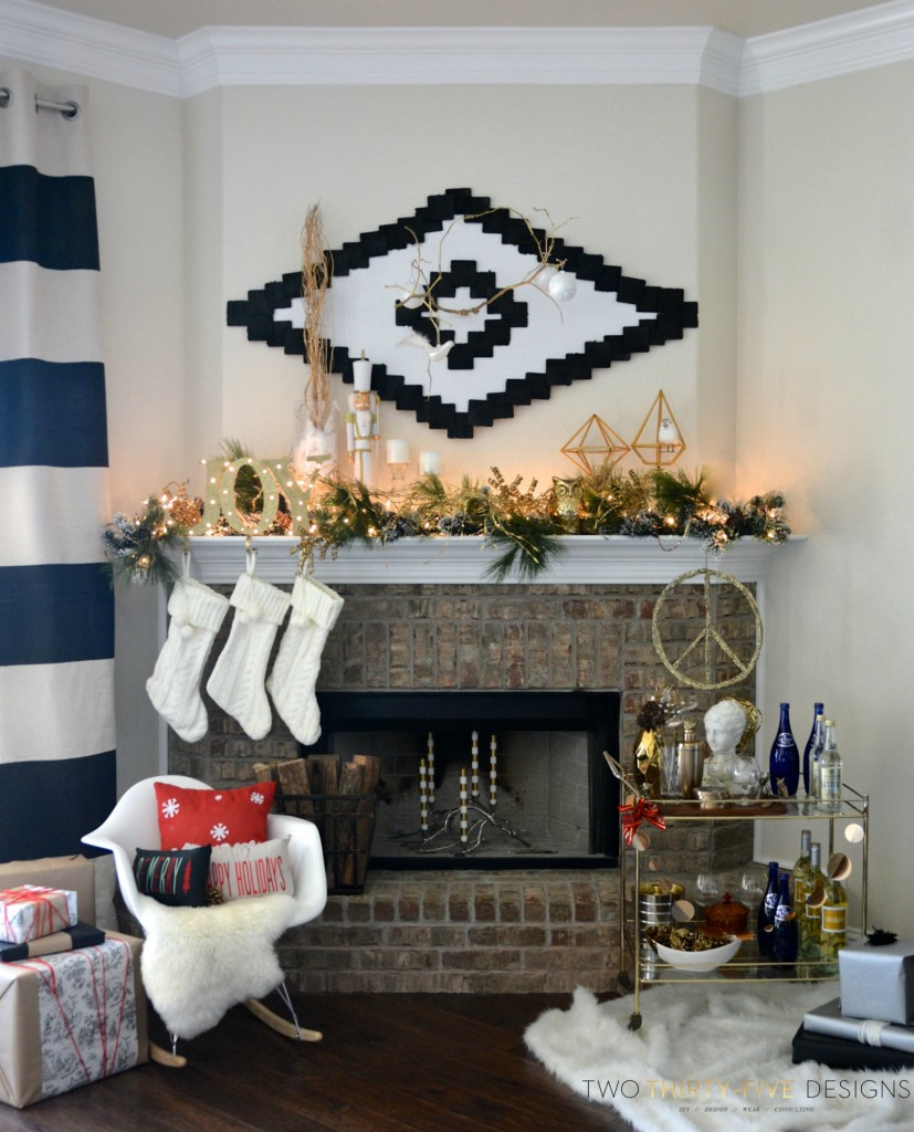 Christmas Holiday Tour of Mantels by Two Thirty~Five Designs