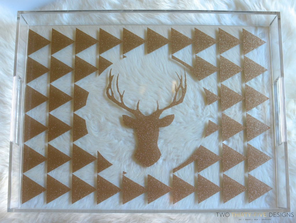 Deer Silhouette Acrylic Tray by Two Thirty~Five Designs