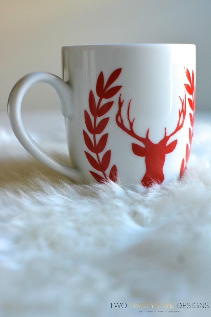 Deer Silhouette Mug by Two Thirty~Five Designs
