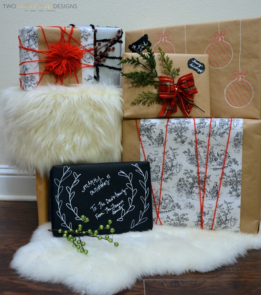 Gift Wrapping ~ Home For The Holidays Blog Tour ~ Two Thirty~Five Designs
