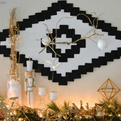 Ikea Christmas Mantel by Two Thirty~Five Designs