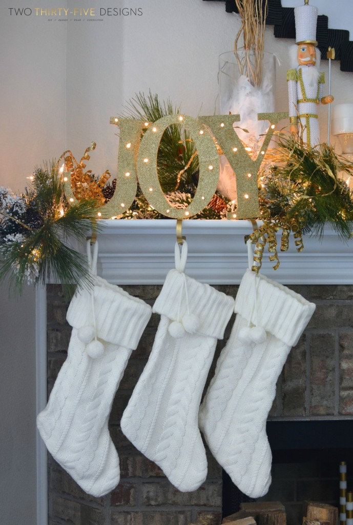 DIY Joy Stocking Holders by Two Thirty~Five Designs