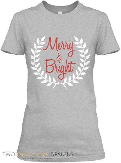 Merry&Bright2014 Christmas Shirt