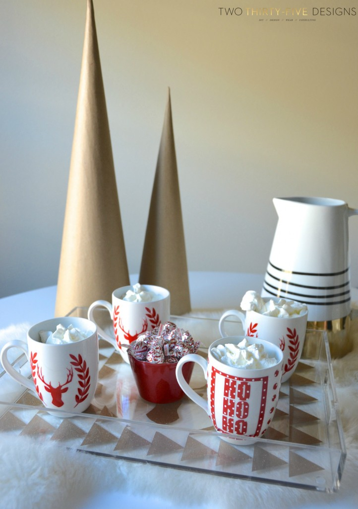 Peppermint Candy Cane Hot Chocolate Bar by Two Thirty~Five Designs