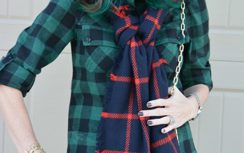 Christmas Plaid Scarf