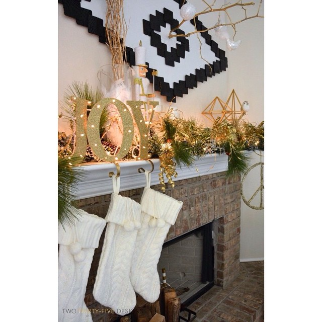 My #diy #joy stocking holder tutorial is posted ? -link in profile