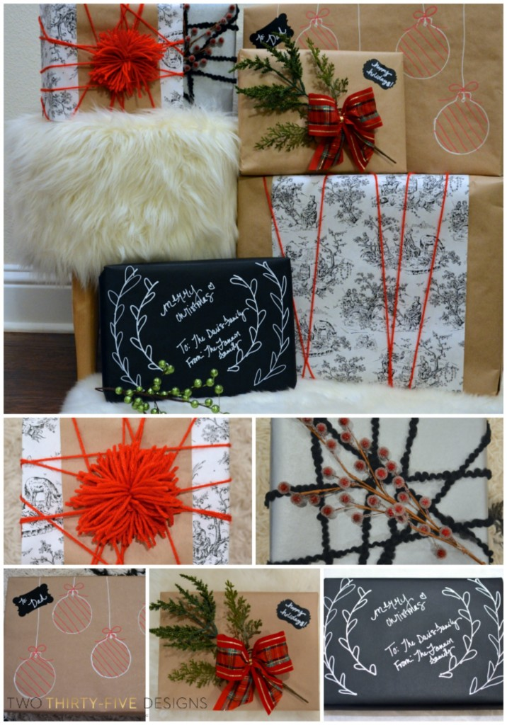 5 Quick Gift Wrapping Tricks by Two Thirty~Five Designs