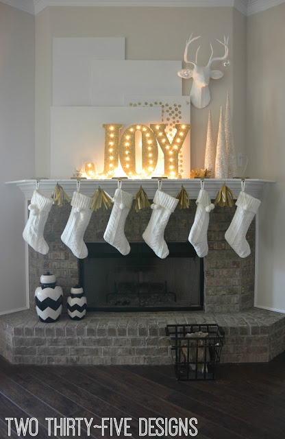 DIY Illuminated JOY Letters by Two Thirty~Five Designs