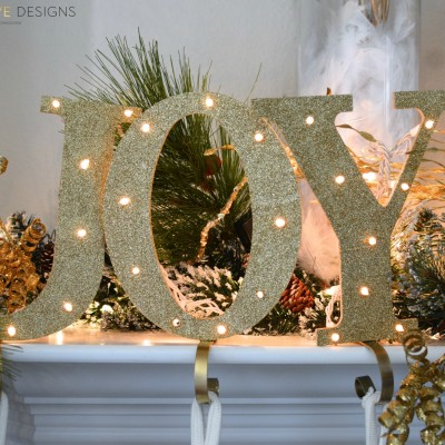 DIY Joy Stocking Holder by Two Thirty~Five Designs