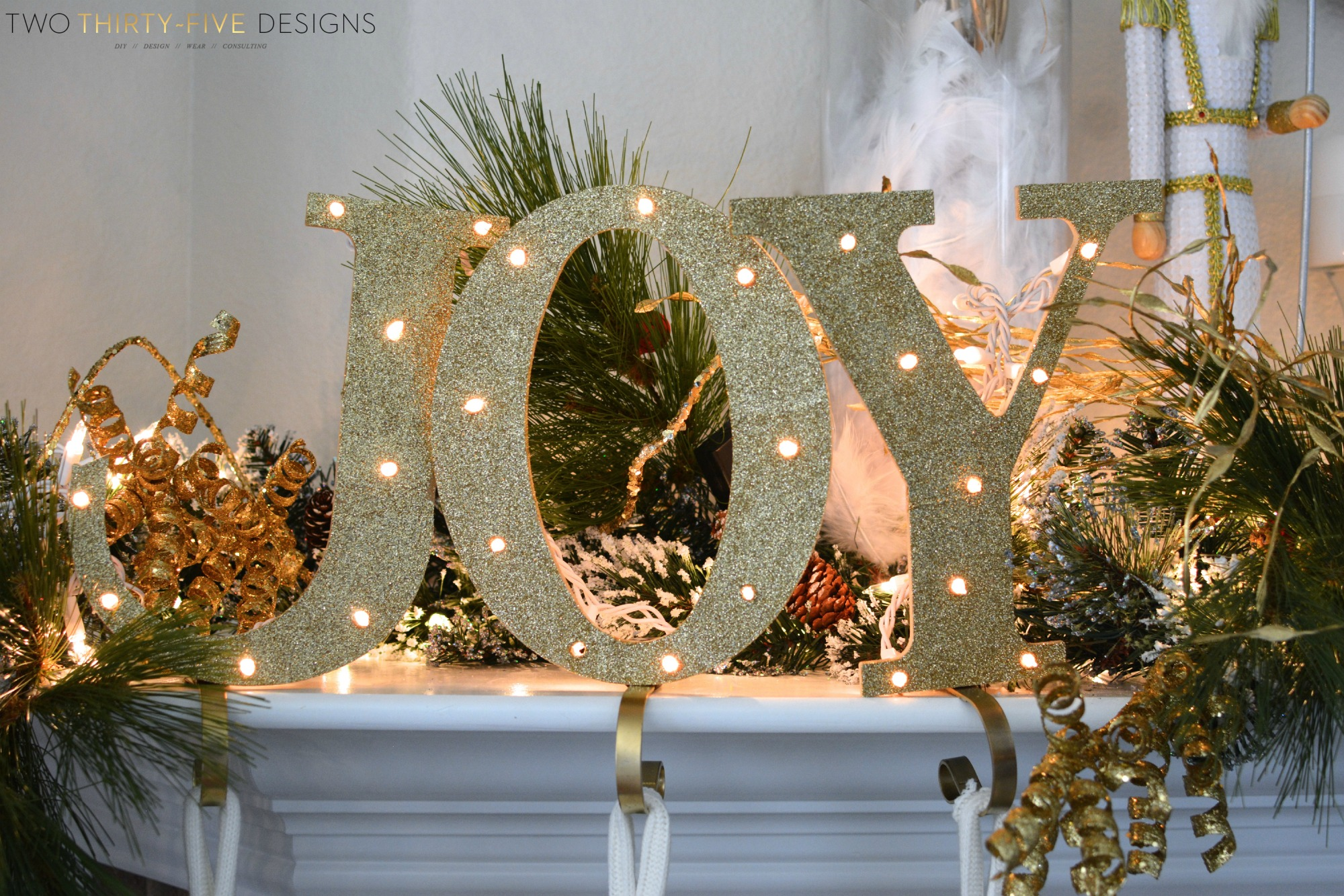 diy joy stocking holders by two thirty five designs