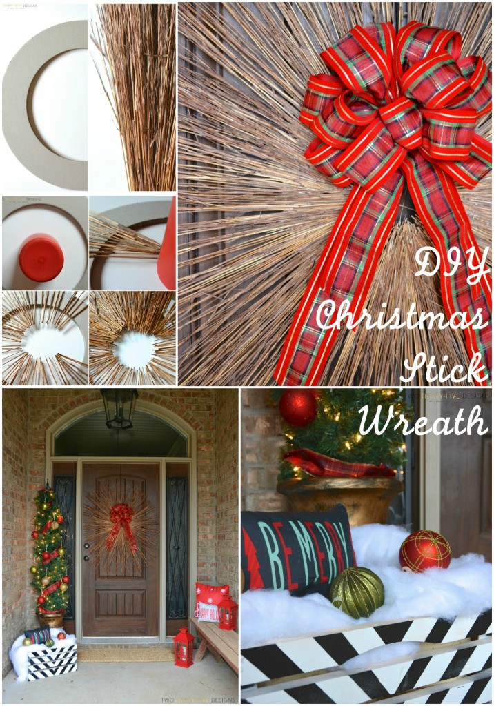 DIY Stick Twig Wreath by Two Thirty~Five Designs