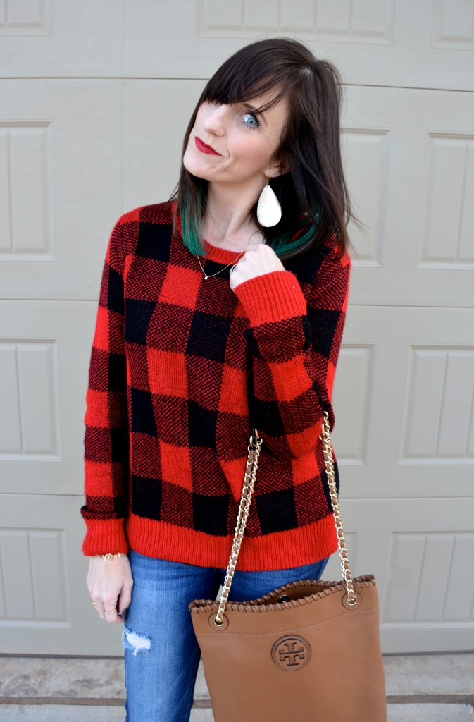 Casual Friday Link Up with #Buffalo #Check. Featuring @StitchFix, @ToryBurch, @Tillys and @Guess