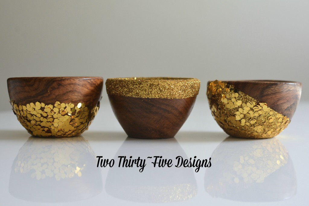 Glitter Dipped Bowls by Two Thirty~Five Designs