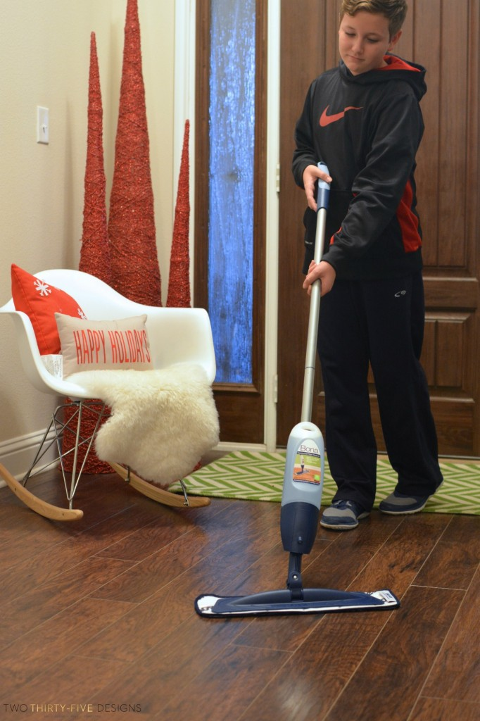 Holiday Prep with Bona Floor Cleaner by Two Thirty~Five Designs