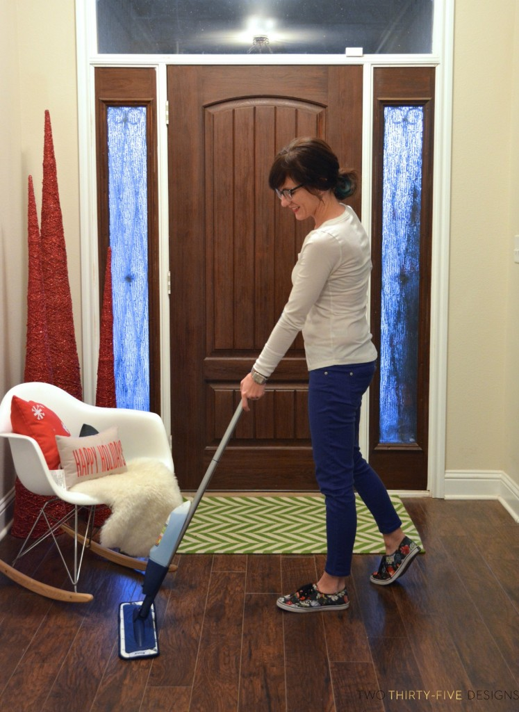 Holiday Prepping with Bona Hard Wood Floor Cleaner by Two Thirty~Five Designs