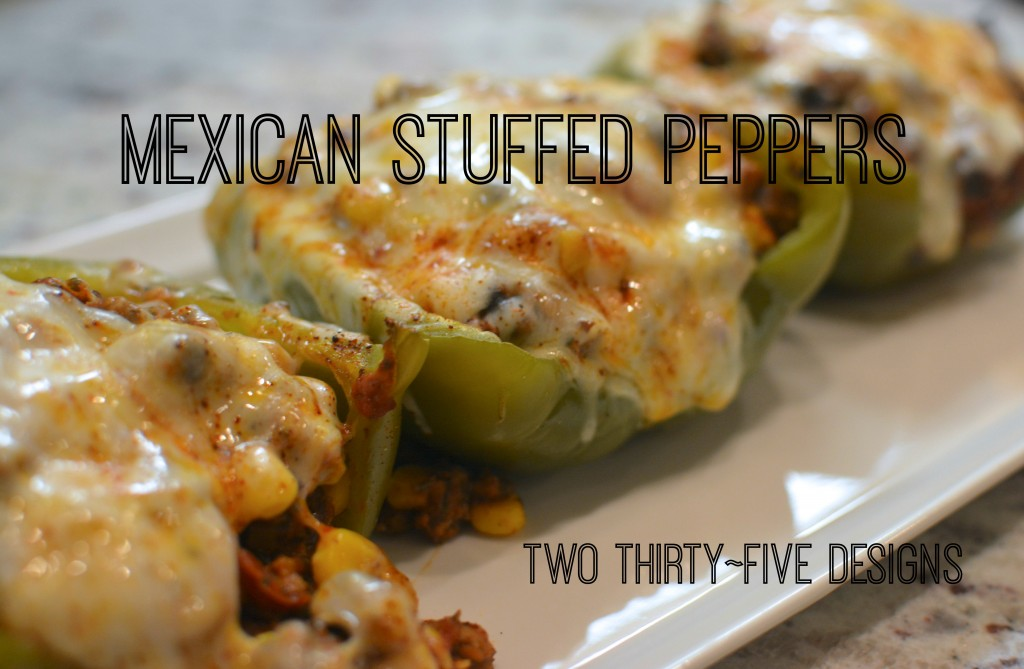 Mexican Stuffed Peppers by Two Thirty~Five Designs