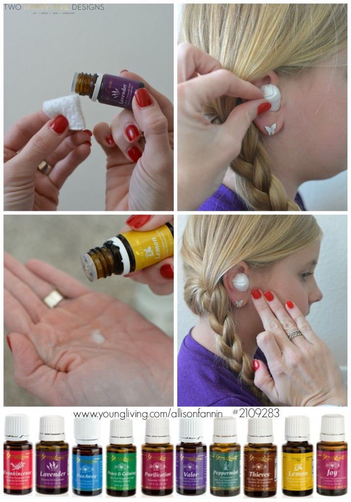 Apply Lemon Essential Oil and Lavender Essential Oil for Ear Ache by Two Thirty~Five Designs