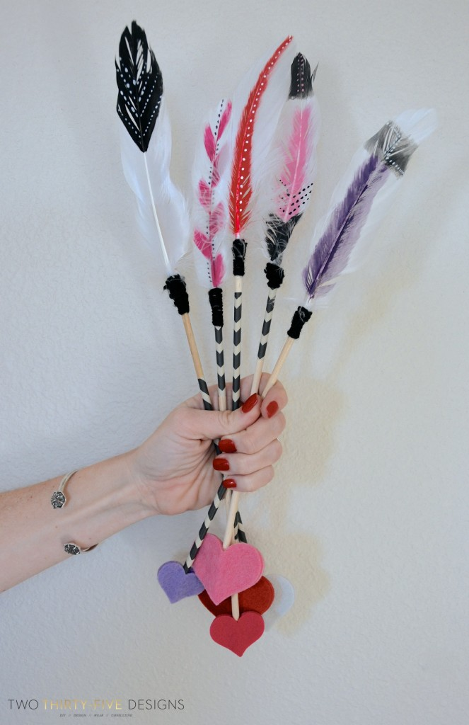 DIY Valentines Arrows by Two Thirty~Five Designs