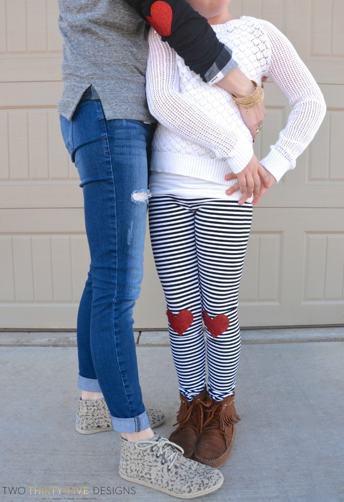 DIY Heart Elbow & Knee Patches by Two Thirty~Five Designs