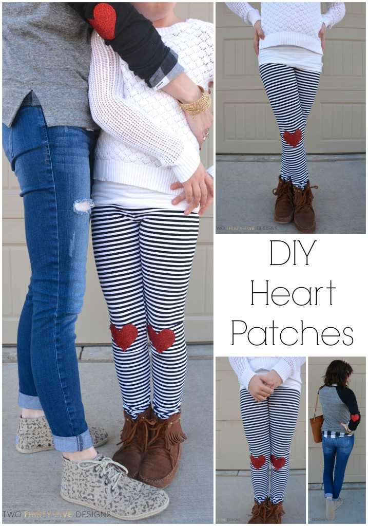 DIY No Sew Heart Patches by Two Thirty~Five Designs